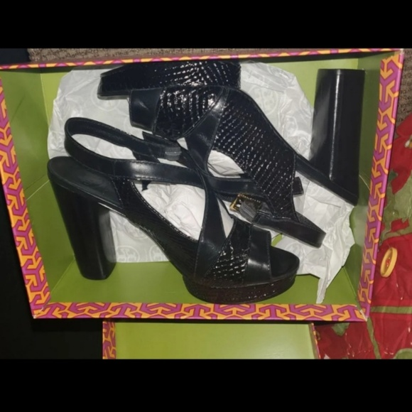 Tory Burch Shoes - Black Tory Burch Heels Limited Edition